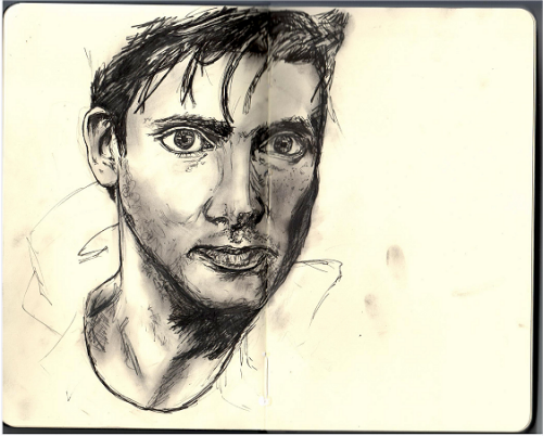 David Tennant in the Telegraph magazine, Nov. 22 08, pen in my moleskine